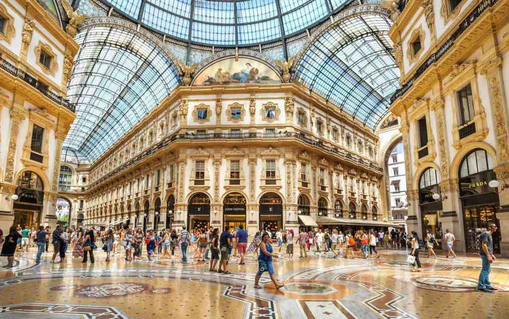 The ethereal beauty of Milan's, Vittorio Emanuele II shopping arcade.