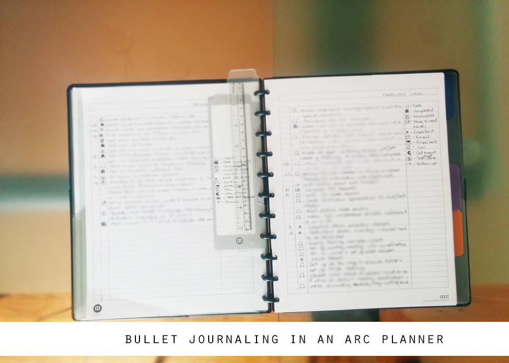 plannergirl my bullet journal based to do based system for work