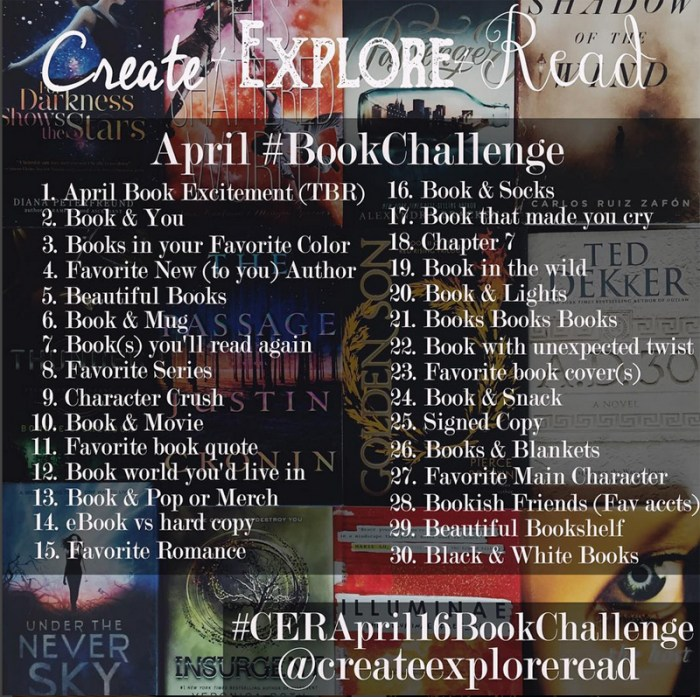 createexploreread bookstagramapril