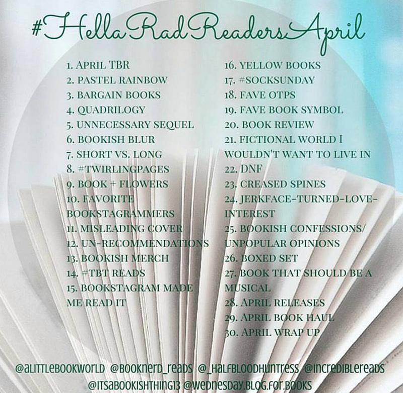 helloradreadsapril bookstagram