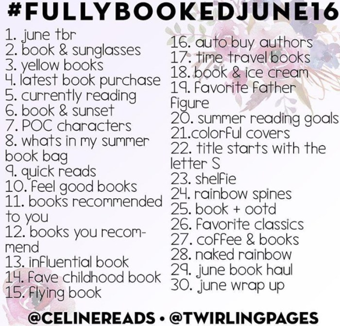 fullybookedjune16 bookstagram