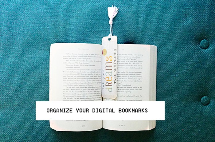 Organize Digital Bookmarks