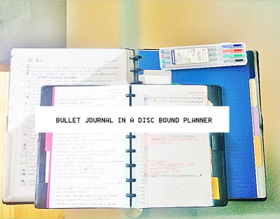 bullet journal disc bound