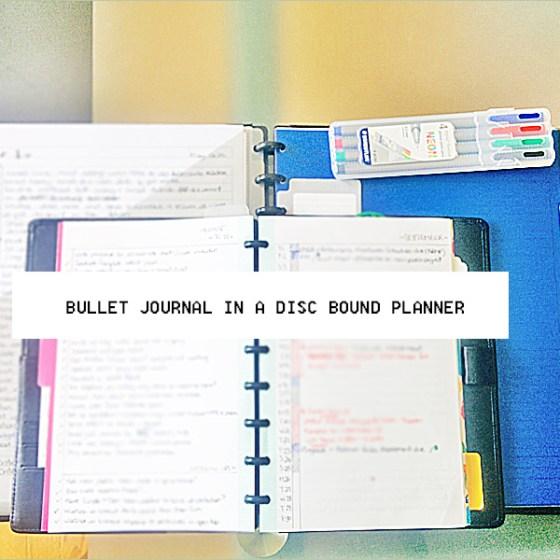 bullet journal disc bound