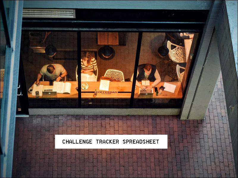 Reading Challenge Tracker Spreadsheet