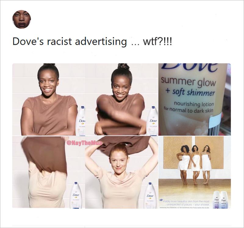 Dove Black to White Ad