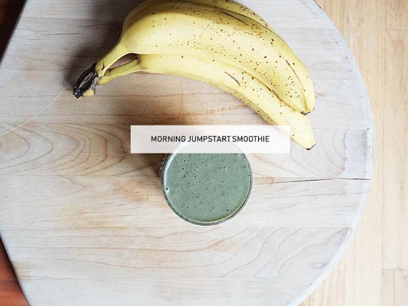 Green Smoothie Morning Jump Start