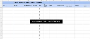 2019 Reading Challenges Tracker