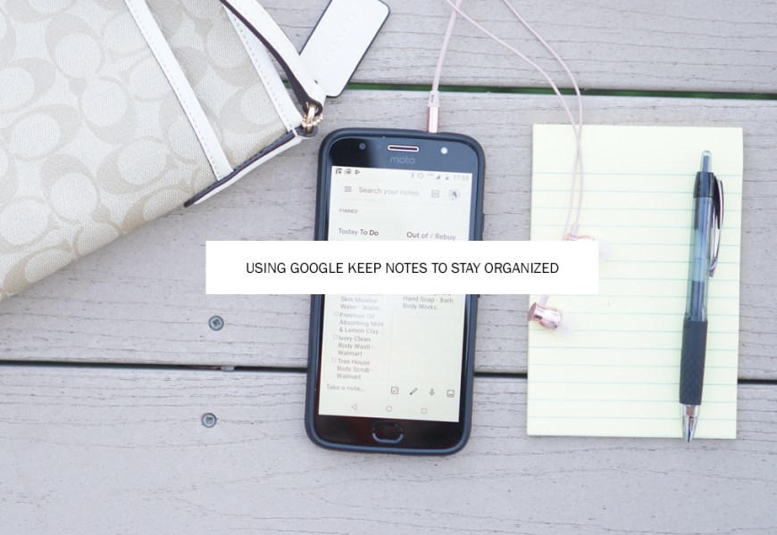 Using Google Keep Notes for Organization