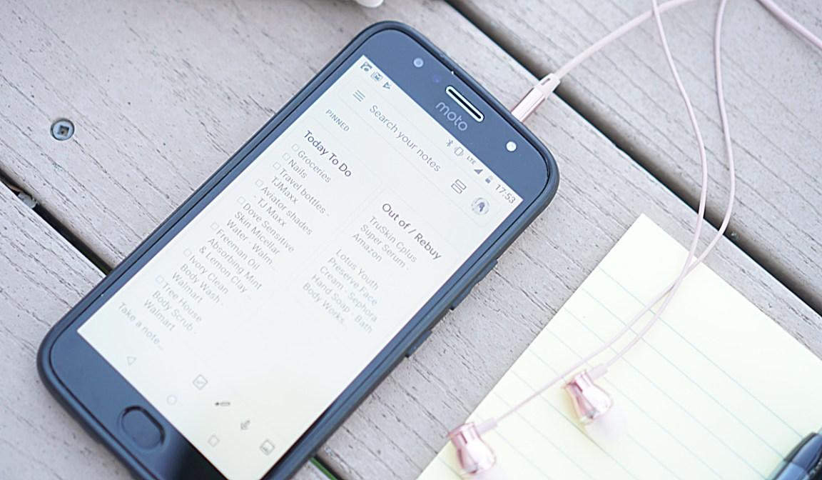 Using Google Keep Notes