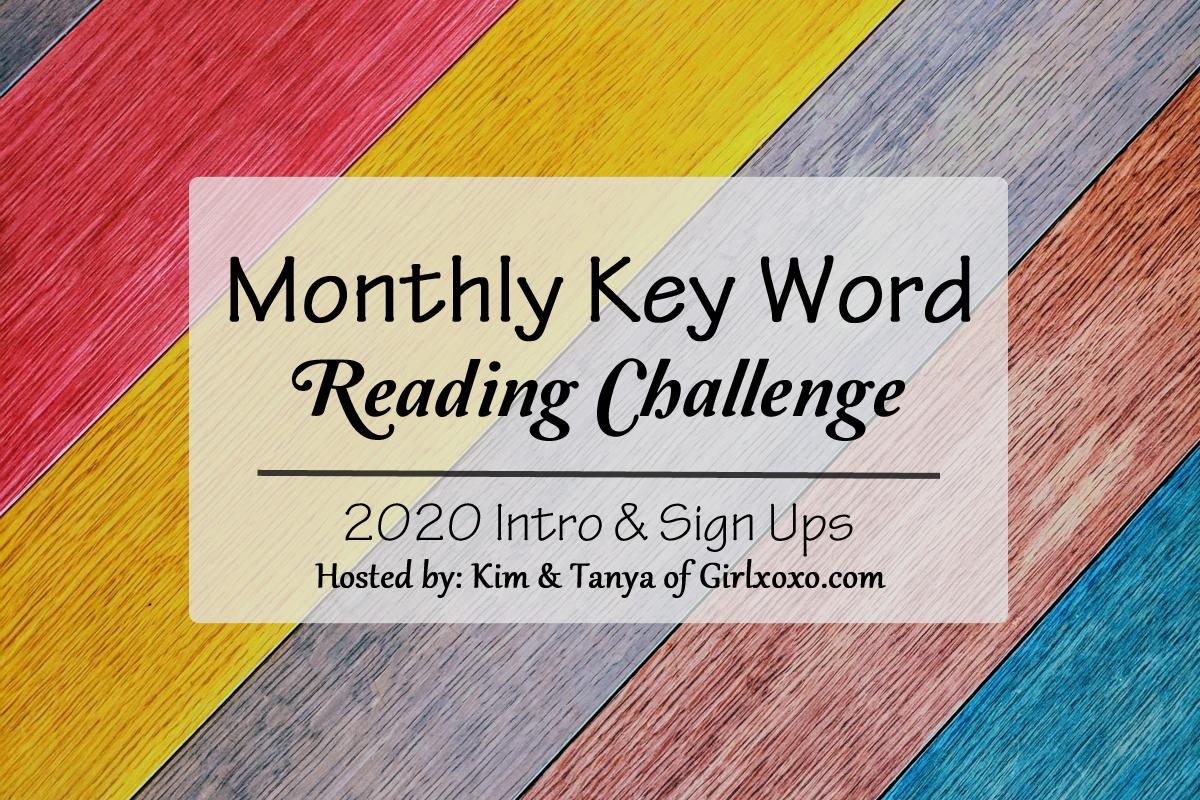 2020 Reading Challenge List.Monthly Key Word Reading Challenge 2020 Girlxoxo