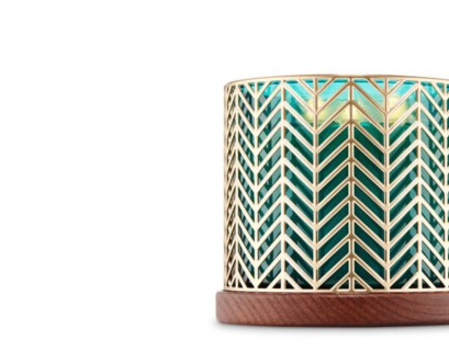 Bath and Body Works Gold Chevron Candle Holder