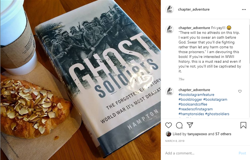 Ghost Soldiers Book, Coffee, and Croissant