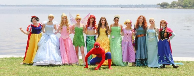 Princess and Superhero Characters for Hire