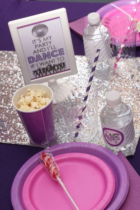 Jacksonville Diva Dance Birthday Party Table Setting