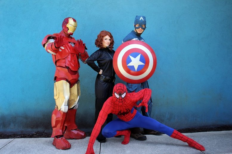 Superhero Jacksonville St Augustine Birthday Party Characters