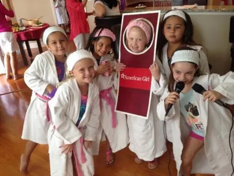 American Girl Inspired Spa Party for Kids