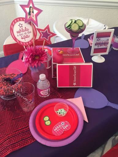 American Girl Themed Spa Party