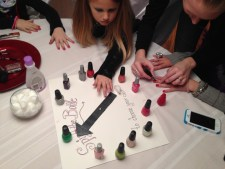 Spin the Bottle Manicure Station for Tween Themed Birthday