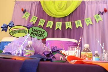 Girly Ninja Turtle Birthday Party