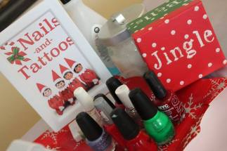 Nails and Tattoos- Elf on the Shelf