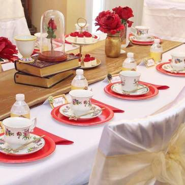 Belle Beauty and the Beast Tea Party Decor