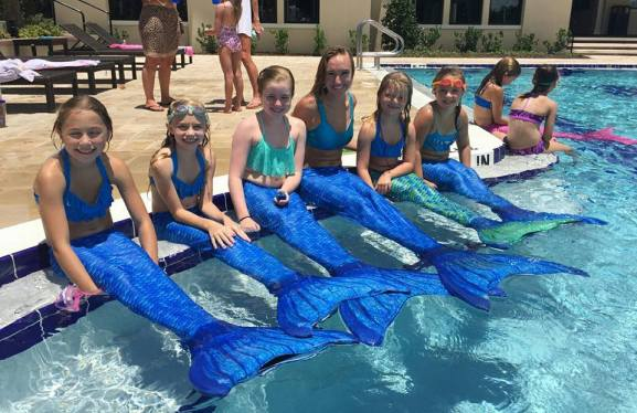 Swimming Mermaids Birthday Party