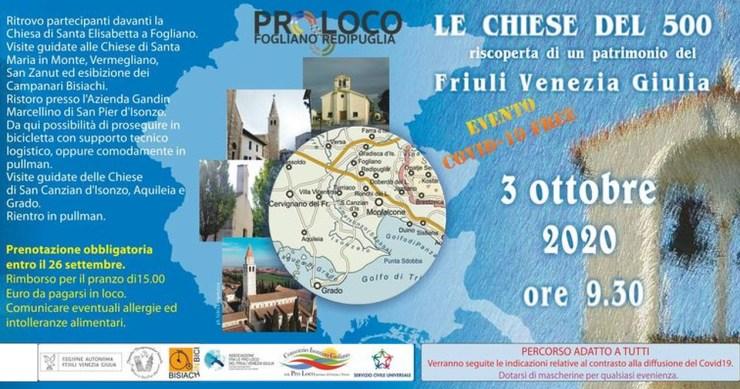 Tour guidato gratuito tra le chiesette del Cinquecento tra Bisiacaria e Bassa Friulana