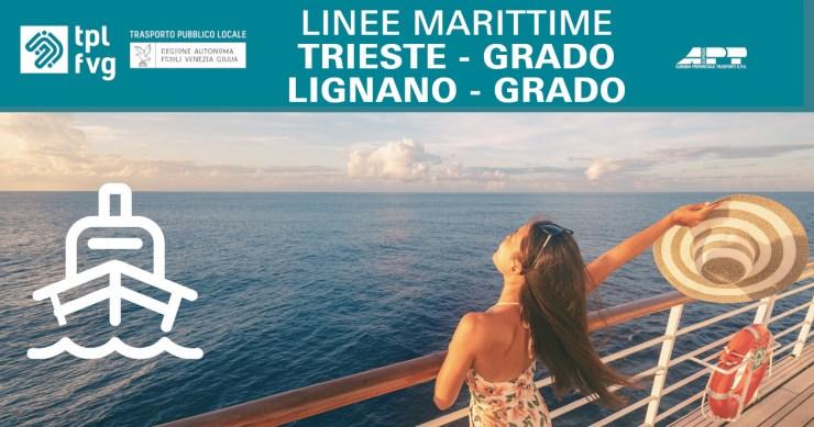 Le emozioni viaggiano sull'Adriatico, con le tratte via mare Trieste-Grado-Lignano, anche con con bici a bordo!