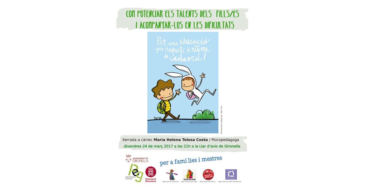 Xerrada: com potenciar els talents dels fills/es i acompanyar-los en les dificultats?