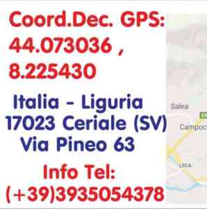 AgriCamper Oasi a Ceriale (SV) coordinate