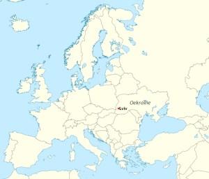 De locatie van Lviv in Europa. (afbeelding: Wikimedia Commons)