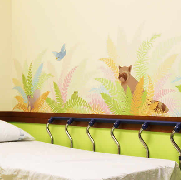 SCCA Proton Therapy Fern Wall Graphics