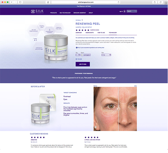 Silk Therapeutics Website