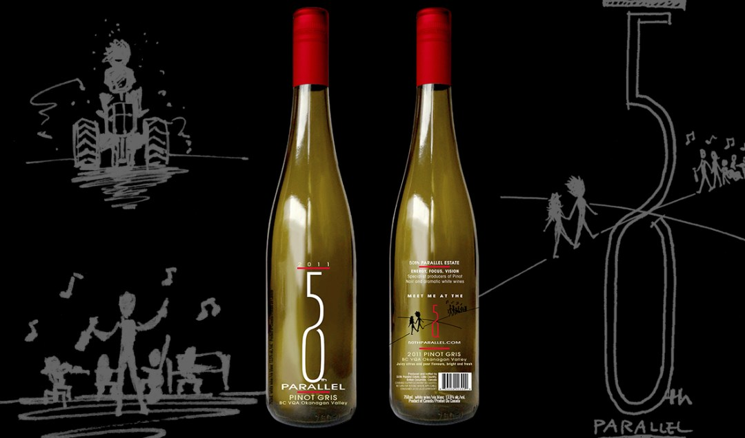 50th Parallel Winery Bottle Labels
