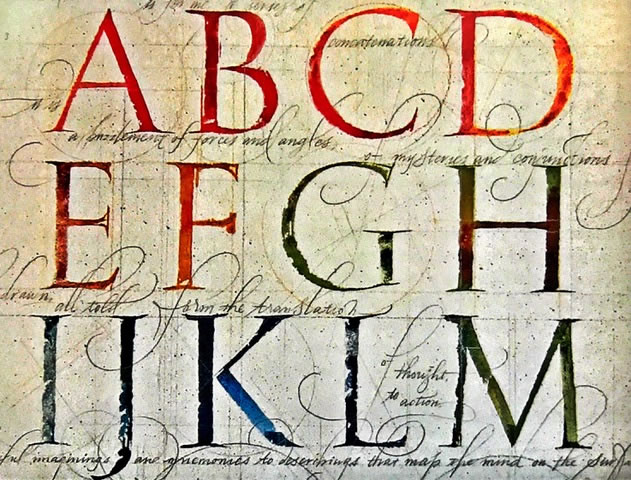 THE CODE OF THE MESSAGE | THE DESIGN OF THE ALPHABET