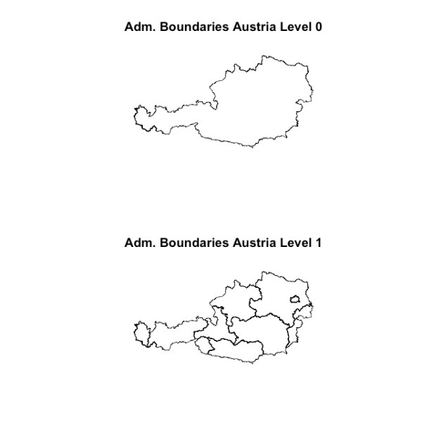 austria boundaries