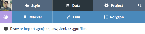 Data Import Mapbox.com