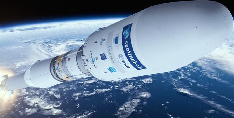 Sentinel 1-B Launch - Image by ESA