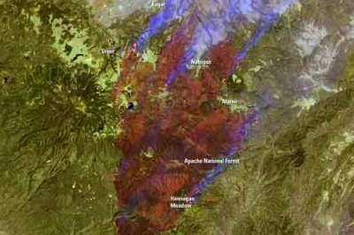 Landsat image of the Wallow Fire in Arizona.