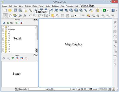 QGIS Desktop interfaces.