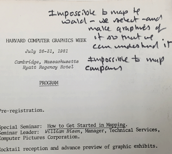 Quote from Roger Tomlinson about mapmaking. Via Library of Congress.