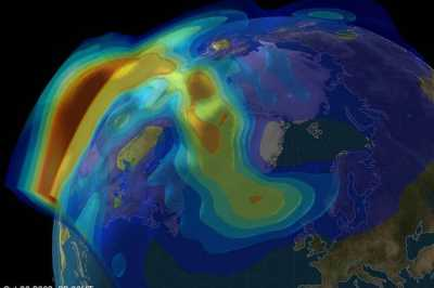Model of the 2003 Halloween solar storm on October 30. Source: University of Bath.