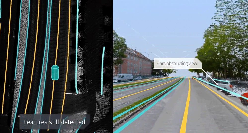 HERE's work focuses on detecting 3D road features by applying deep convolutional networks to its HERE True LiDAR in order to capture 3D geometry and surface reflectivity to produce centimeter accurate 3D features.