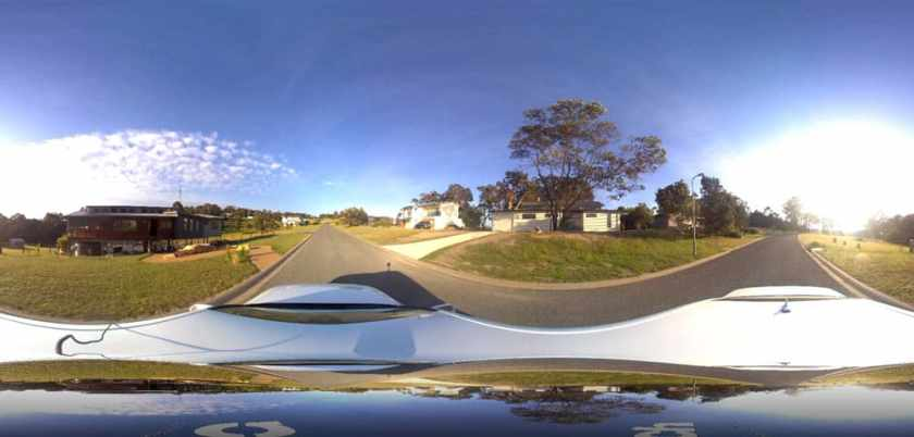 Panoramic image captured by iSTAR Pulsar in Mallacoota, Australia.  Image used with permission, NCTech.