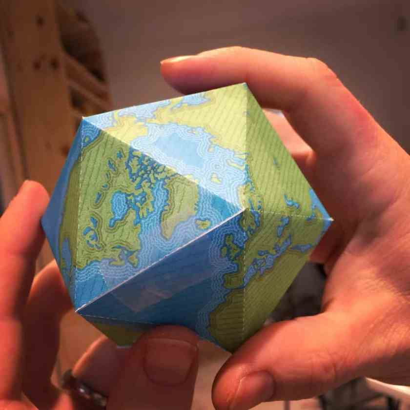 John Nelson's globe ornament templates are based on the Dymaxion projection.