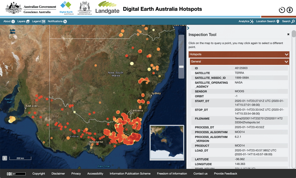 Digital Earth Hotspots Australia