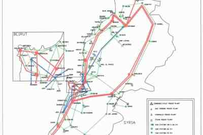 220 KV Electric lines and substations. (Source: EDL Lebanon)