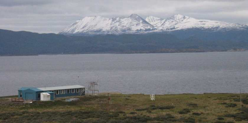 A global atmospheric watch (GAW) station in Ushuaia, Argentina.  Source:  World Meteorological Organization.