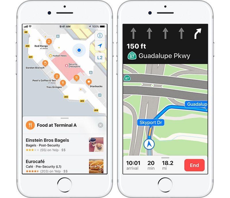 Apple Maps on iOS 11